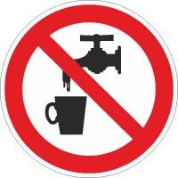 Verbotszeichen Kein Trinkwasser nach BGV A8 (P05)