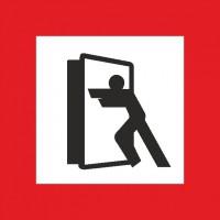 Brandschutzschild mit Piktogramm Brandschutztür