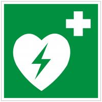Rettungszeichen Defibrillator nach ISO 7010 (E010) / ASR A1.3