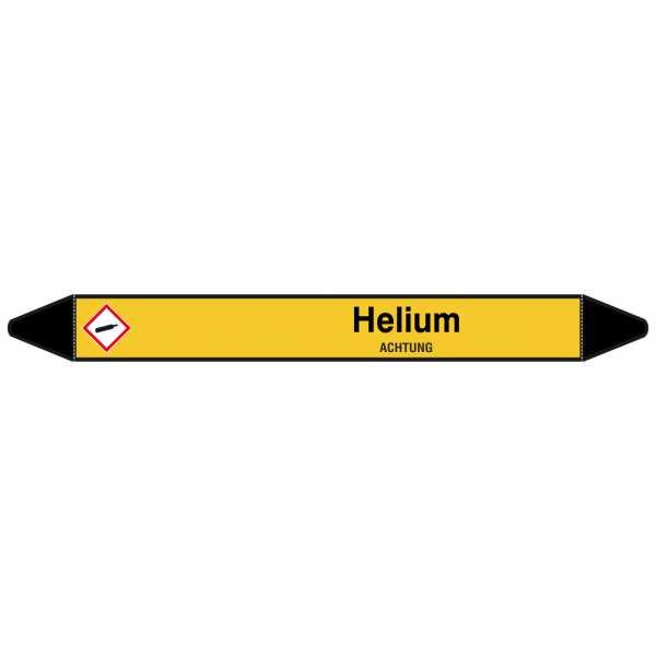 Brady Rohrmarkierer mit Text Helium - ACHTUNG