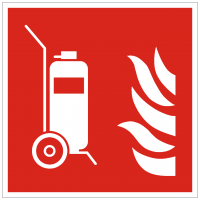 Brandschutzzeichen Fahrbarer Feuerlöscher nach ISO 7010 (F009)