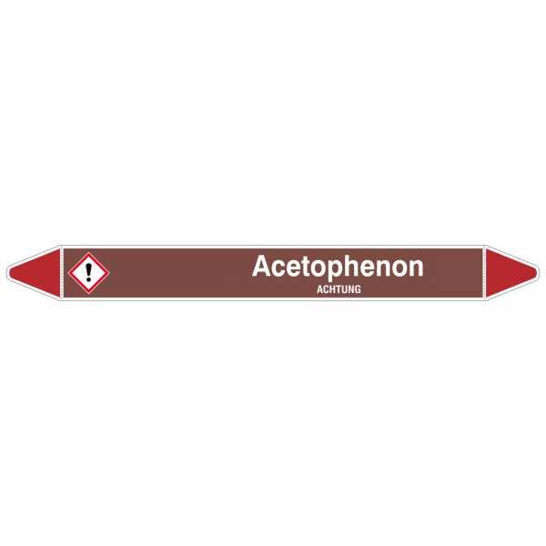 Brady Rohrmarkierer mit Text Acetophenon - ACHTUNG