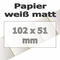 Papier-Etiketten - weiß matt (1370 Stk. auf Rolle)