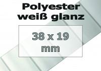 Polyester-Etiketten - weiß glanz (3300 Stk. auf Rolle)