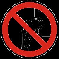 Verbotszeichen Verbot für Personen mit Metallimplantaten nach BGV A8 (P16)
