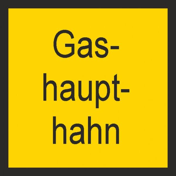 Hinweisschild Gashaupthahn