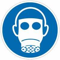 Gebotszeichen Atemschutz benutzen nach ISO 7010 (M017)