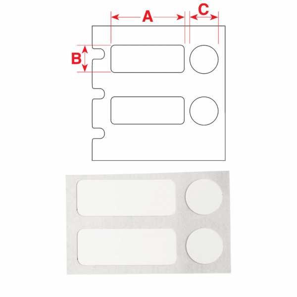 Brady FreezerBondz Polyester-Etiketten B-492 mit Deckeletikett für den BBP33 Drucker