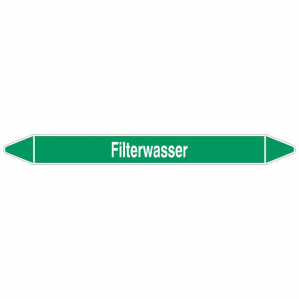 Brady Rohrmarkierer mit Text Filterwasser