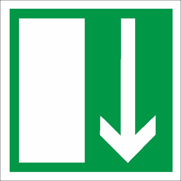 Rettungszeichen Notausgang nach BGV A8 (E14)