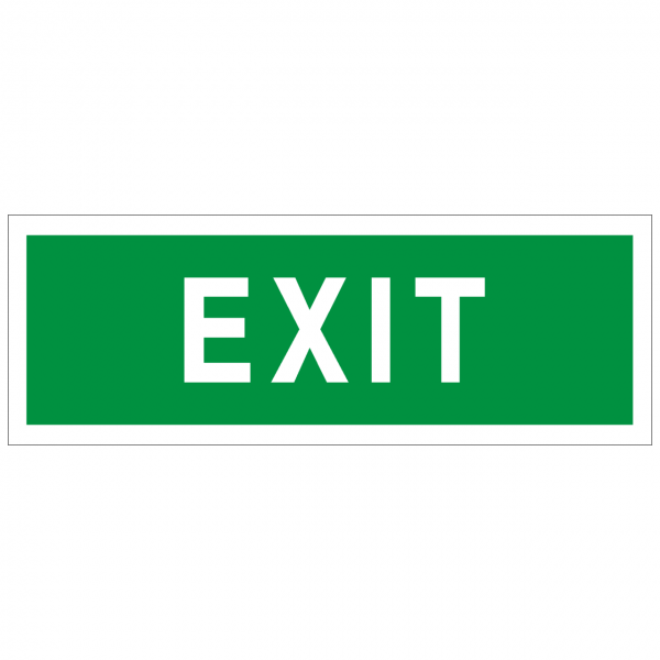 Rettungszeichen mit Text EXIT