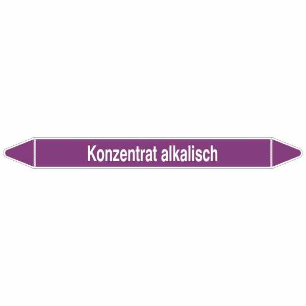 Brady Rohrmarkierer mit Text Konzentrat alkalisch