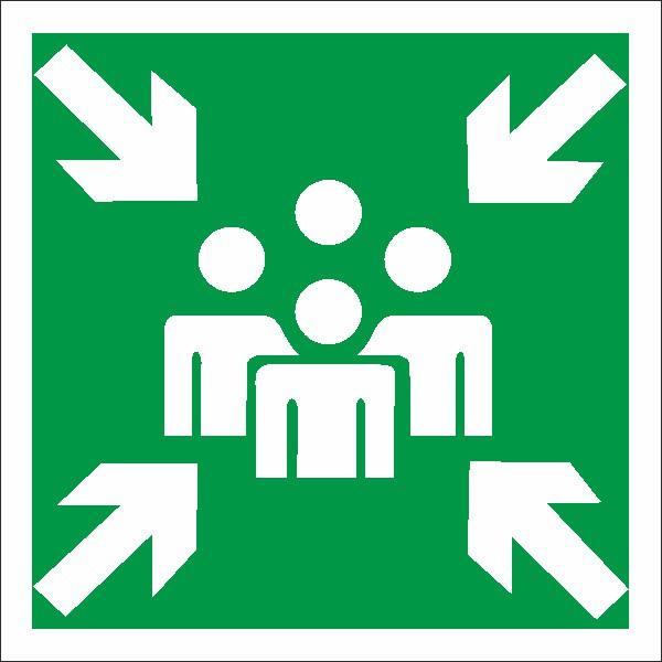 Rettungszeichen Sammelstelle nach BGV A8 (E11)