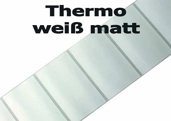 Thermoetiketten - weiß matt auf 3 Zoll Rollenkern