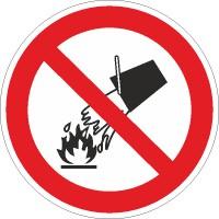 Verbotszeichen Mit Wasser löschen verboten nach BGV A8 (P04)