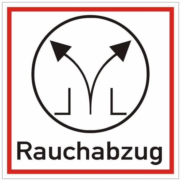 Brandschutzschild mit Piktogramm Rauchabzug
