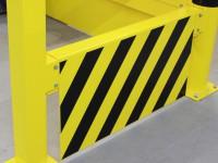 Unterfahrschutz für Sicherheitsgeländer Stahl