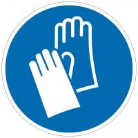 Gebotszeichen Handschutz benutzen nach ISO 7010 (M009)