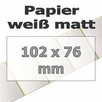 Papier-Etiketten - weiß matt (930 Stk. auf Rolle)