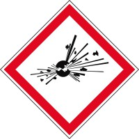 GHS-Gefahrstoffetiketten Explosionsgefährlich - GHS01
