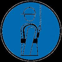 Gebotszeichen Auffanggurt benutzen nach BGV A8 (M09)