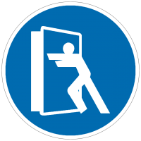 Gebotszeichen Tür stets schließen