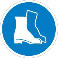 Gebotszeichen Fußschutz benutzen nach BGV A8 (M05)