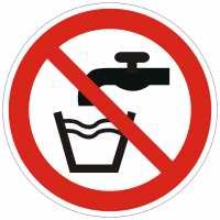 Verbotszeichen Kein Trinkwasser nach ISO 7010 (P005)