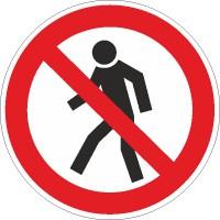 Verbotszeichen Für Fußgänger verboten nach BGV A8 (P03)