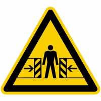 Warnung vor Quetschgefahr nach BGV A8 (W23)