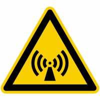Warnung vor elektromagnetischem Feld nach BGV A8 (W12)