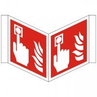 Nasenschild Brandmelder nach ISO 7010 (F005) / ASR A1.3