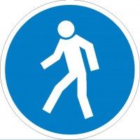 Gebotszeichen Für Fußgänger nach BGV A8 (M10)