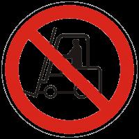 Verbotszeichen Für Flurförderzeuge verboten nach BGV A8 (P07)
