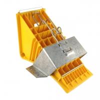 Unterlegkeil NG 46, Kunststoff gelb inkl. Metallhalterung