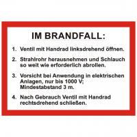 Handhabungsfolie Wandhydrant DIN 14461-1:2003-07 für formfesten Schlauch