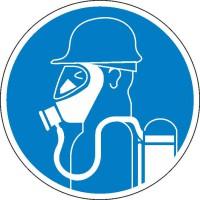 Gebotszeichen Schweren Atemschutz benutzen