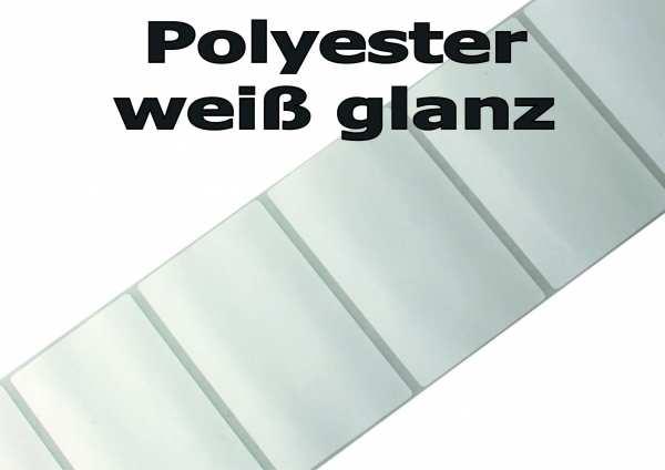 Polyesteretiketten - weiß glanz UV beständig