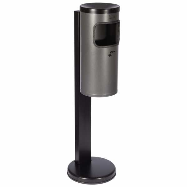 Abfall-Ascher-Kombination TKG Rondo mit schwarzem Standfuß