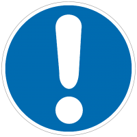 Gebotszeichen Allgemeines Gebotszeichen nach BGV A8 (M00)