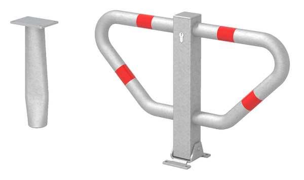 Parkplatzbügel Stoppy II zum Eimbetonieren mit Profilzylinderschloss