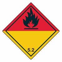Unterklasse 5.2 - Organische Peroxide schwarze Flamme