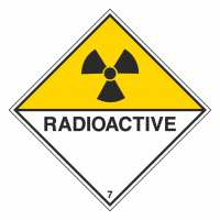 Gefahrzettel Radioaktive Stoffe Klasse 7D