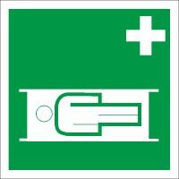 Rettungszeichen Krankentrage nach BGV A8 (E04)