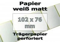 Papier-Etiketten - weiß matt (500 Skt.)