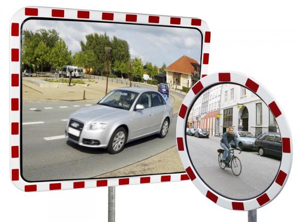 Verkehrsspiegel mit Reflexfolie RA 2