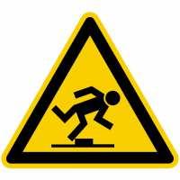 Warnung vor Stolpergefahr nach BGV A8 (W14)