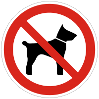 Verbotszeichen Mitführen von Tieren verboten nach BGV A8 (P14)