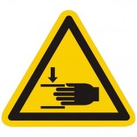 Warnzeichen Warnung vor Handverletzungen nach ISO 7010 (W024)