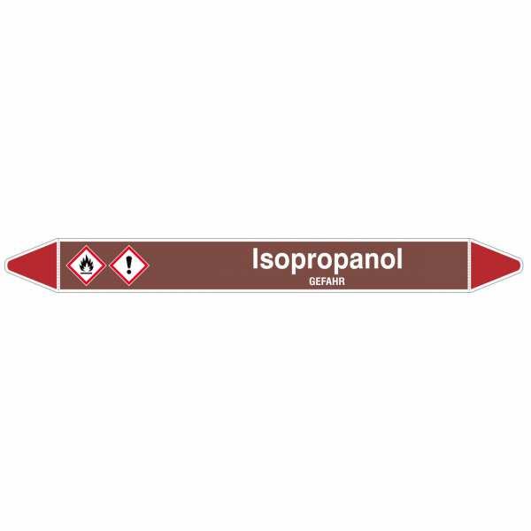 Brady Rohrmarkierer mit Text Isopropanol - GEFAHR